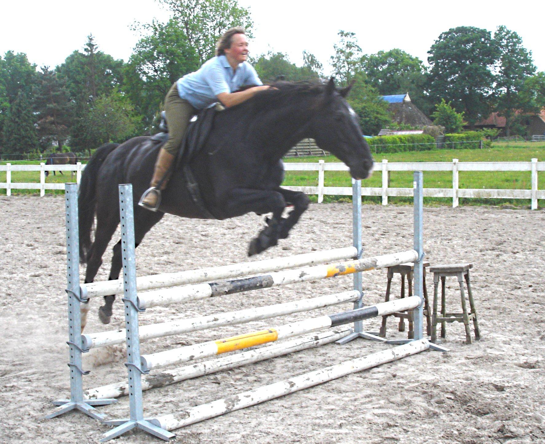 Liesbeth Jorna springen bitloos teugelloos